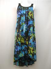 Buy Womens Dress PLUS SIZE 1X S L FASHIONS Geometric Split Front Hi Lo Overlay