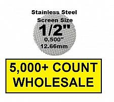 "Buy 5,000+ Count 1/2"" Stainless Steel Pipe Screens HIGHEST QUALITY - MADE IN USA!"