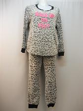 Buy Women 2PC Plush Pajama Set Animal Print PLUS SIZE 2X Long Sleeve Crew Neck SECRE