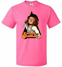 Buy Chuckywork Orange Unisex T-Shirt Pop Culture Graphic Tee (3XL/Neon Pink) Humor Funny