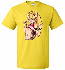 Buy Bowsette Unisex T-Shirt Pop Culture Graphic Tee (3XL/Yellow) Humor Funny Nerdy Geeky
