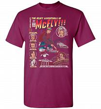 Buy Heavy Adventures Of McFly! Unisex T-Shirt Pop Culture Graphic Tee (2XL/Berry) Humor F