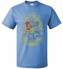 Buy Hogwart's Crest Adult Unisex T-Shirt Pop Culture Graphic Tee (6XL/Columbia Blue) Humo