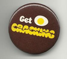Buy Get Cracking Eggs Collectible Pinback Button Pin Vintage