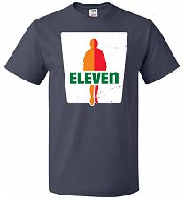 Buy 0-Eleven Unisex T-Shirt Pop Culture Graphic Tee (4XL/J Navy) Humor Funny Nerdy Geeky