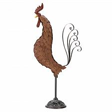 Buy 39447U - Rooster Figure Sculpture Cast & Wrought Iron Statue Yard Art
