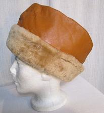 Buy h53b Mens Russian Cossack Hat Faux Leather Faux Shearling Envelope Hat Tan Beige