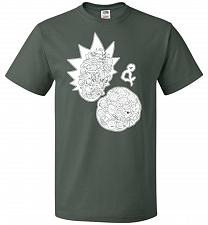 Buy Rick N Morty Unisex T-Shirt Pop Culture Graphic Tee (3XL/Forest Green) Humor Funny Ne