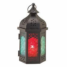 Buy 15223U - Turret Multi-Color Black Candle Lantern