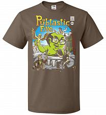 Buy Pubtastic Five Unisex T-Shirt Pop Culture Graphic Tee (M/Chocolate) Humor Funny Nerdy