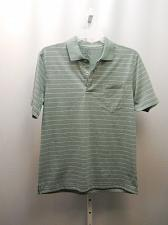 Buy Mens Polo Shirt Size M George Meadow Heather White Stripe No-Roll Collar