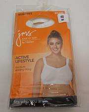 Buy Sport BRA 40D Women JUST MY SIZE Solid White Wire Free Active Lifestyle Cooling