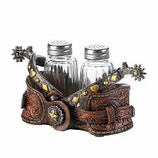 Buy *17552U - Cowboy Spurs Western Style Salt & Pepper Shaker Set