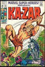 Buy Marvel Super-Heroes KA-ZAR #19 MarvelComics 1969 Capt.America Torch BlackKnight+