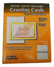 Buy Printer Creations White Textured Greeting Cards Half Fold Heavyweight 6 Total