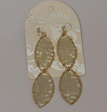 Buy Women Earrings Drop Dangle White Beads Gold Tones Hook Fasteners AL-AFDAL