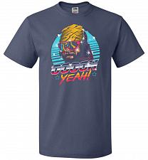 Buy Oh Yeah! Unisex T-Shirt Pop Culture Graphic Tee (3XL/Denim) Humor Funny Nerdy Geeky S