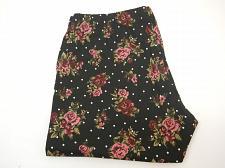 Buy Women Ankle Leggings Black Floral Dot Print SIZE 2XL Inseam 28 Skinny Legs