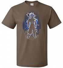 Buy Shadow Of The Ultra Instinct Unisex T-Shirt Pop Culture Graphic Tee (XL/Chocolate) Hu