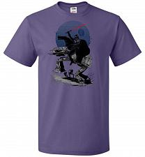 Buy Crossing The Dark Path Unisex T-Shirt Pop Culture Graphic Tee (M/Purple) Humor Funny