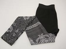 Buy Women Leggings FLEECED Black Floral SIZE L/XL Skinny Legs Mid Rise Inseam 28
