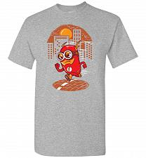 Buy Flash Minion Unisex T-Shirt Pop Culture Graphic Tee (4XL/Sports Grey) Humor Funny Ner