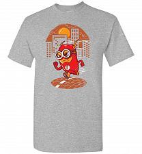 Buy Flash Minion Unisex T-Shirt Pop Culture Graphic Tee (M/Sports Grey) Humor Funny Nerdy