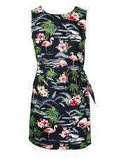 Buy Ladies Tropical Flamingos Sarong Dress #RJ-W152S-275 Size: MED