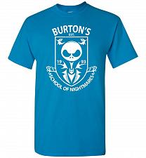 Buy Burton's School Of Nightmares Unisex T-Shirt Pop Culture Graphic Tee (2XL/Sapphire) H