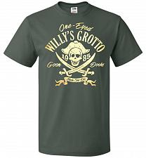 Buy Goonies One-Eye Willy's Grotto Adult Unisex T-Shirt Pop Culture Graphic Tee (5XL/Fore