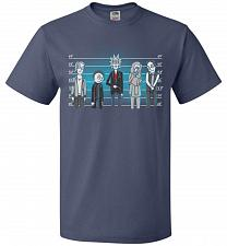 Buy Rick and Morty Unusual Suspects Unisex T-Shirt Pop Culture Graphic Tee (S/Denim) Humo