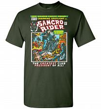 Buy Born Leader Samcro Rider Unisex T-Shirt Pop Culture Graphic Tee (3XL/Forest Green) Hu