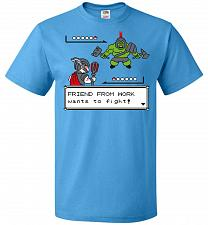 Buy Friendly Foe Unisex T-Shirt Pop Culture Graphic Tee (2XL/Pacific Blue) Humor Funny Ne