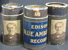 Buy Lot of 3 Antique Edison Blue Amberol Phonograph Cylinder Records