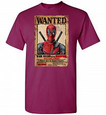 Buy Deadpool Wanted Poster Unisex T-Shirt Pop Culture Graphic Tee (L/Berry) Humor Funny N