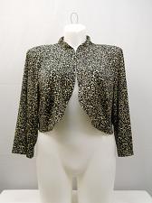 Buy Womens Shrug Bolero Plus Size 18W Jessica Howard 3/4 Sleeves Band Collar Crop