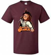 Buy Chuckywork Orange Unisex T-Shirt Pop Culture Graphic Tee (L/Maroon) Humor Funny Nerdy