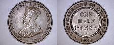Buy 1936 Australian Half (1/2) Penny World Coin - Australia