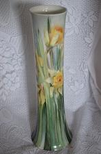Buy 1885 Antique Vase Hand Painted Daffodils on Blue Ground