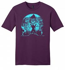 Buy Saiyan Sized Secret Youth Unisex T-Shirt Pop Culture Graphic Tee (4XL/Eggplant) Humor