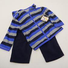 Buy Infant Boys 2PC Pant Hoodie Set Blue Stripe Size 6-9M Fleece Garanimals