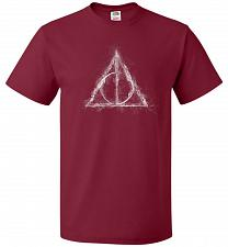 Buy Deathly Hollows Unisex T-Shirt Pop Culture Graphic Tee (XL/Cardinal) Humor Funny Nerd