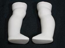 """Buy Vintage Bisque Porcelain Doll Legs 3"""" Long Flange Style New Old Stock NOS"""