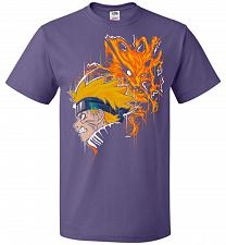 Buy Demon Fox Unisex T-Shirt Pop Culture Graphic Tee (L/Purple) Humor Funny Nerdy Geeky S
