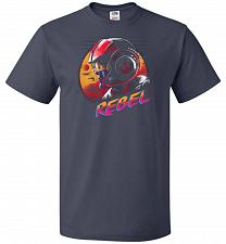 Buy Rad Rebel Unisex T-Shirt Pop Culture Graphic Tee (5XL/J Navy) Humor Funny Nerdy Geeky