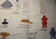 Buy Inuit Eskimo Art Duffel Wool Tapestry/Wall-hanging, 32x32, syllabics, coa