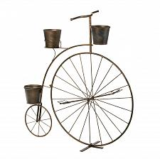 Buy *16041U - Old Fashioned High-Wheel Bicycle Iron Plant Stand Pot Holder
