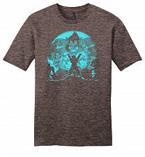 Buy Saiyan Sized Secret Youth Unisex T-Shirt Pop Culture Graphic Tee (M/Heathered Brown)