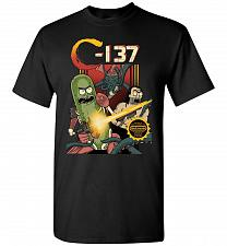 Buy C-137 Schwifty Squad Unisex T-Shirt Pop Culture Graphic Tee (M/Black) Humor Funny Ner