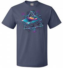 Buy Retro Wave Time Machine Unisex T-Shirt Pop Culture Graphic Tee (S/Denim) Humor Funny